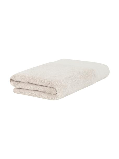 Toalla con cenefa clásica Premium, 100%algodón Gramaje superior 600g/m², Beige, Toallas tocador