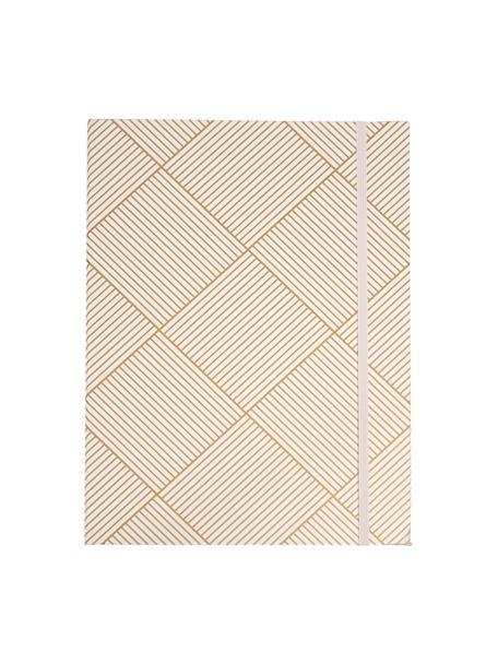 Teczka Paulina, 2szt., Odcienie złotego, biały, S 23 x W 32 cm