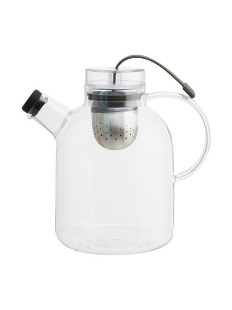 Design theepot Kettle van glas met thee-ei, Pot: glas, Transparant, 1,5 L