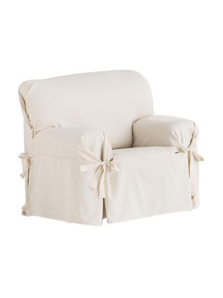 Funda de sillón Bianca, Algodón, Crudo, An 120 x Al 110 cm