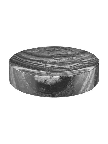 Marmor-Seifenschale Teren, Marmor, Schwarz, Ø 11 x H 3 cm