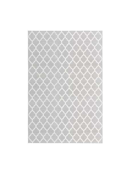 Tappeto in cotone tessuto a mano Amira, 100% cotone, Grigio chiaro, bianco crema, Larg. 200 x Lung. 300 cm (taglia L)