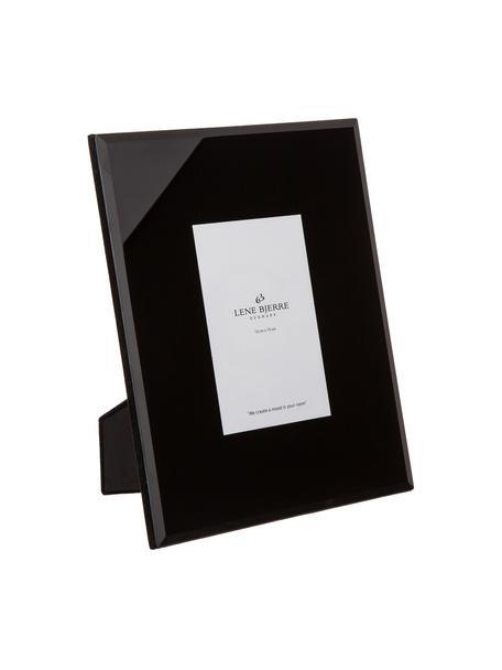 Bilderrahmen Black Austin, Rahmen: Metall, Front: Glas, spiegelnd, Schwarz, 10 x 15 cm