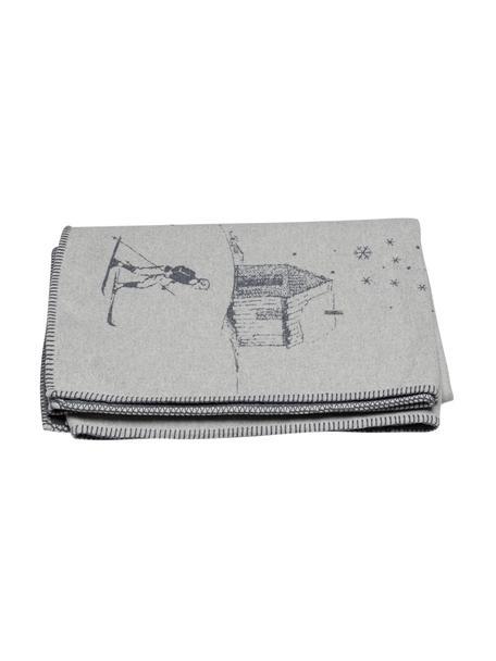 Manta Sylt Ski, Tapizado: 85%algodón, 8%viscosa, , Gris, gris oscuro, An 140 x L 200 cm