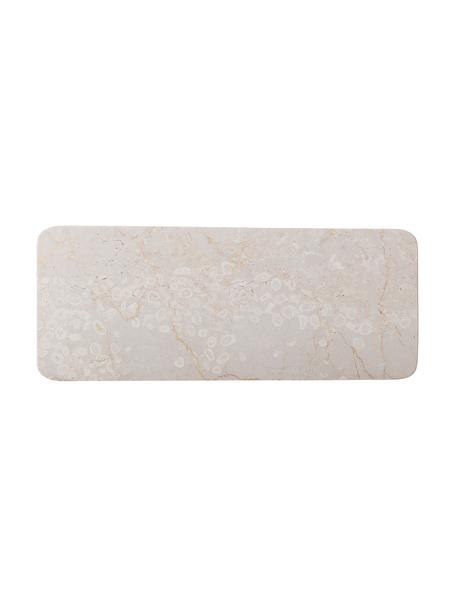 Marmor Servierplatte Maya, B 15 x L 38 cm, Marmor, Beige, L 38 x H 3 cm