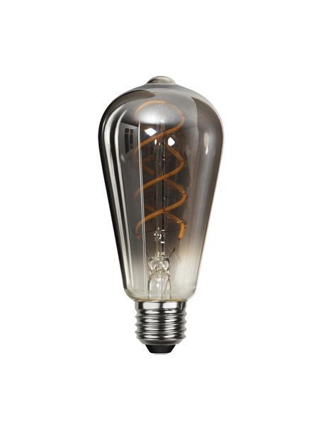 Lampadina E27, 4W, bianco caldo, 1 pz, Paralume: vetro, Base lampadina: nichel, Nero, Ø 6 x Alt. 14 cm