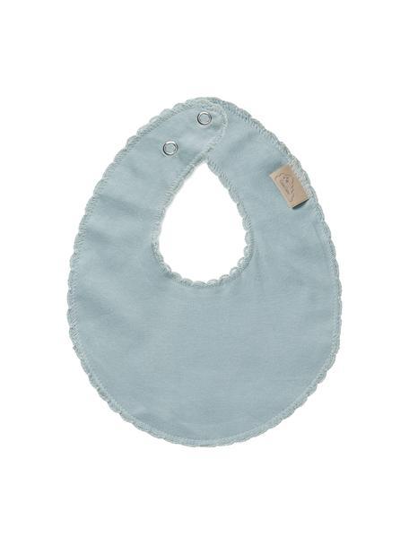 Bavaglino in cotone organico Protect, 100% cotone organico, Blu, Larg. 20 x Lung. 23 cm