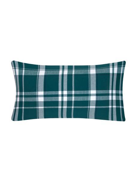 Flanell-Kissenbezüge Rolf, kariert, 2 Stück, Webart: Flanell Flanell ist ein s, Grün, 40 x 80 cm