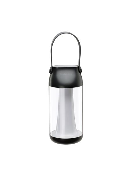 Mobile Dimmbare Außentischlampe Capulino, Lampenschirm: Kunststoff, Griff: Kunststoff, Transparent, Anthrazit, Ø 8 cm