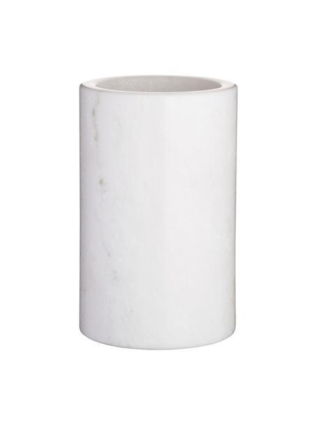 Cubitera de mármol Charlie, Mármol, Blanco veteado, Ø 12 x Al 19 cm