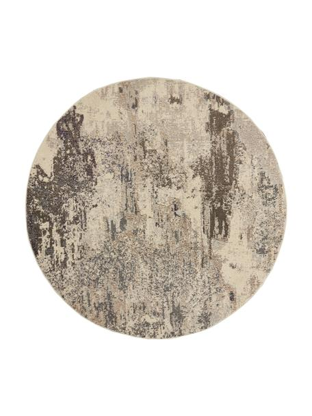 Alfombra redonda de diseño Celestial, Parte superior: 100%polipropileno, Reverso: yute, Tonos beige, Ø 240 cm (Tamaño XL)