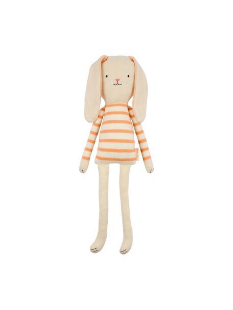 Kuscheltier Bunny aus Bio-Baumwolle, 100% Biobaumwolle, OCS-zertifiziert, Hellbeige, Orange, 12 x 33 cm