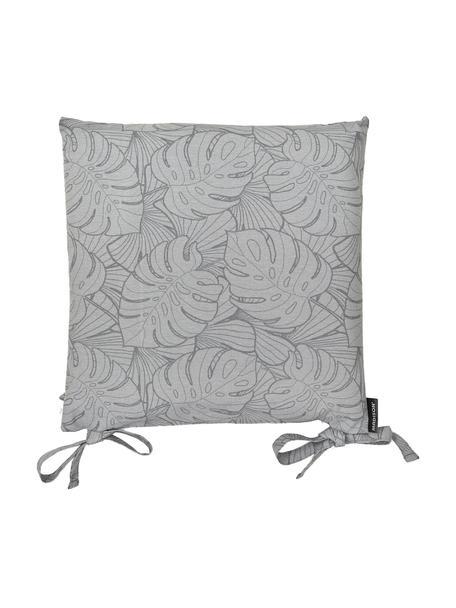 Sitzkissen Palm in Grau mit Palmenprint, 50% Baumwolle, 45% Polyester, 5% andere Fasern, Grau, 45 x 45 cm