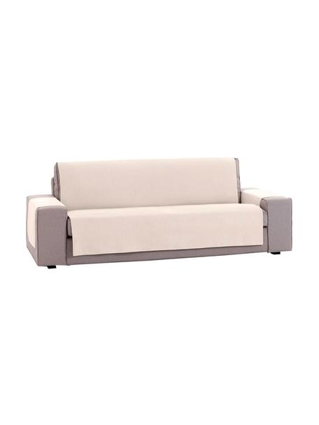 Funda de sofá Levante, 50%algodón, 50%poliéster, Beige, 2 plazas (115 x 220cm)
