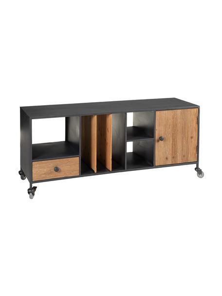Aparador Fumo, estilo industrial, Abeto, negro, An 120 x Al 51 cm