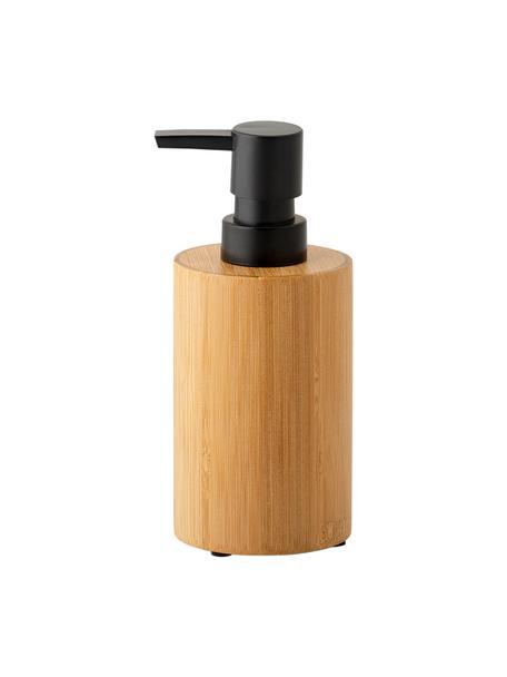 Seifenspender Beckton, Behälter: Bambus, Pumpkopf: Kunststoff, Bambus, Schwarz, Ø 7 x H 17 cm