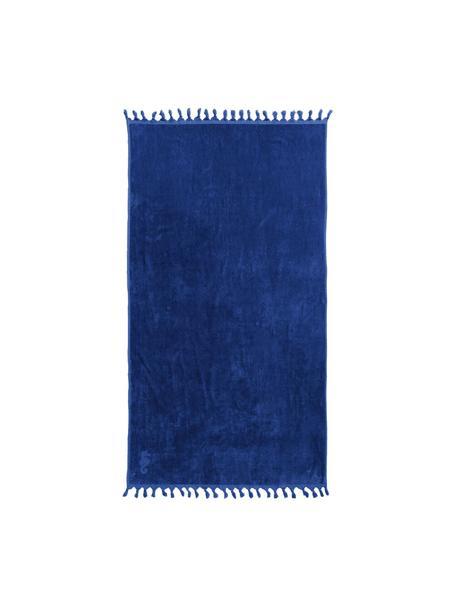 Hamamdoek Lushie, 100% katoen Middelzware stofkwaliteit, 355g/m², Donkerblauw, 100 x 180 cm