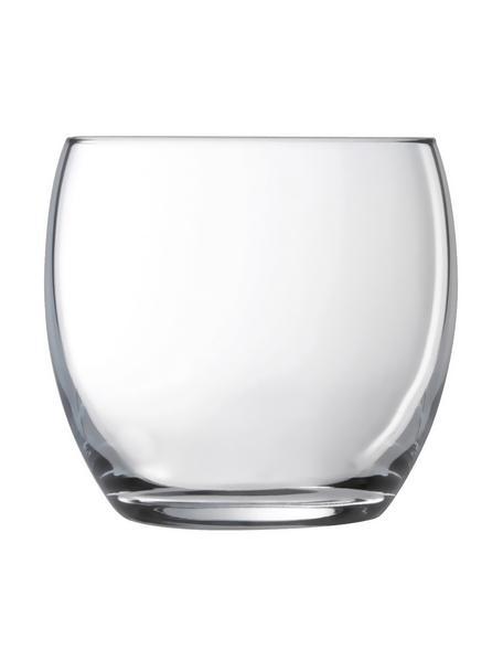 Vasos Salto, 6 uds., Vidrio, Transparente, 350 ml