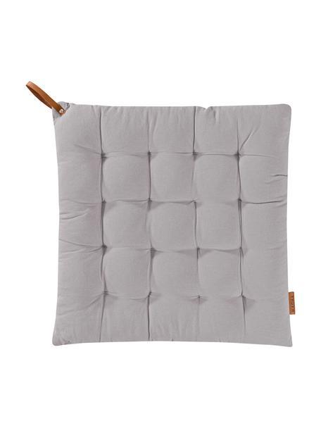Poduszka na siedzisko Billie, 100% bawełna, Szary, S 40 x D 40 cm
