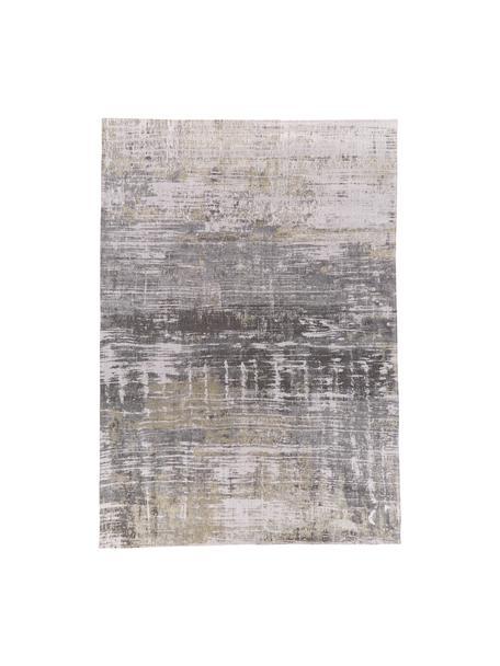 Tappeto di design grigio Streaks, Tessuto: Jacquard, Retro: Miscela di cotone, rivest, Tonalità grigie, Larg. 200 x Lung. 280 cm (taglia L)