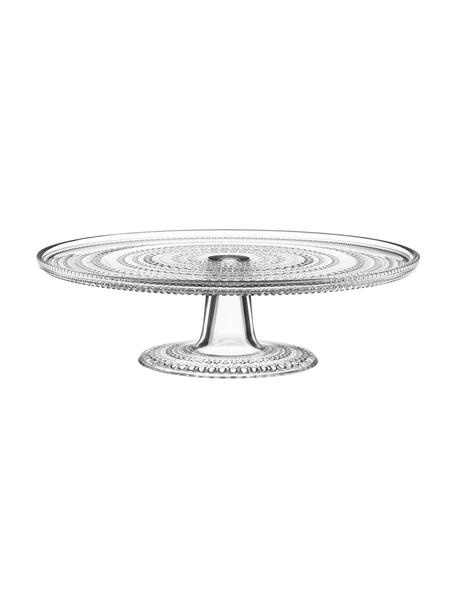 Glas-Tortenplatte Kastehelmi mit Tropfendesign, Ø 32 cm, Glas, Transparent, Ø 32 cm