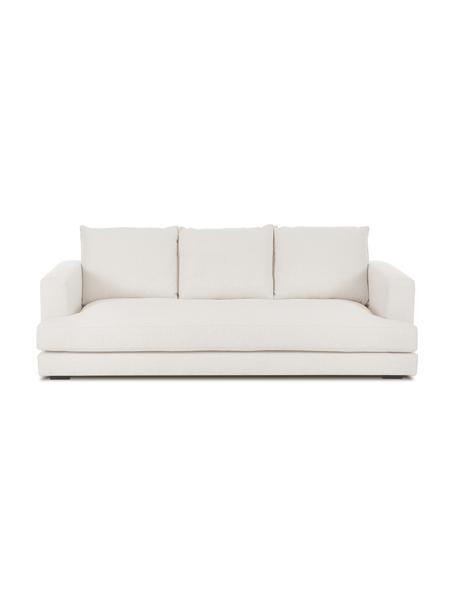 Sofa Tribeca (3-Sitzer) in Beige, Bezug: Polyester Der hochwertige, Gestell: Massives Kiefernholz, Füße: Massives Buchenholz, lack, Webstoff Beige, B 228 x T 104 cm