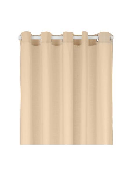 Duschvorhang Coloris aus Baumwoll-Mix, 67% Polyester, 33% Baumwolle Wasserabweisend, nicht wasserdicht, Beige, 180 x 200 cm