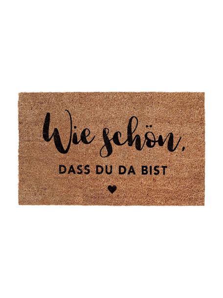 Fußmatte Wie Schön, Unterseite: Vinyl, Braun, Schwarz, 45 x 75 cm
