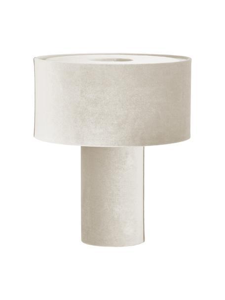 Lampa stołowa z aksamitu Frida, Beżowy, Ø 30 x W 36 cm