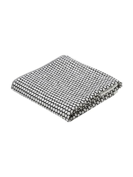 Toalla Grid, diferentes tamaños, Negro, blanco crudo, Toallas de manos