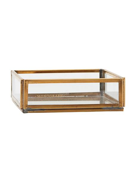 Organizer Sorted, Cornice: metallo ottonato, Trasparente, ottone, Larg. 10 x Alt. 4 cm