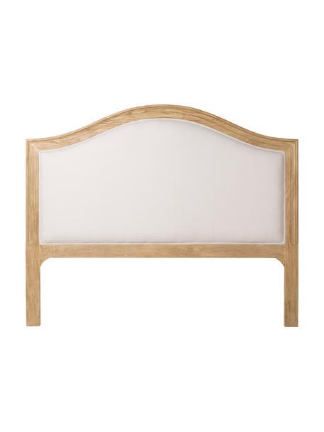 Cabecero acolchado Siena, Madera de roble, algodón, Crema, beige, An 160 x Al 130 cm