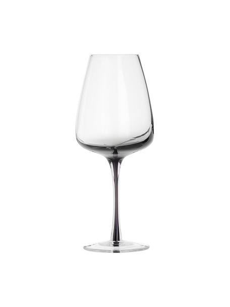 Mundgeblasene Weingläser Smoke mit grauem Farbverlauf, 4 Stück, Glas, mundgeblasen und dickwandig, Rauchgrau, Ø 9 x H 21 cm