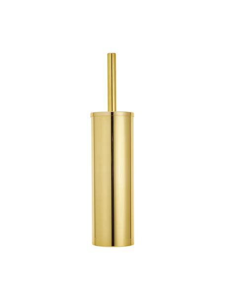 Toilettenbürste Classic mit Metall-Behälter, Metall, lackiert, Goldfarben, Ø 9 x H 40 cm