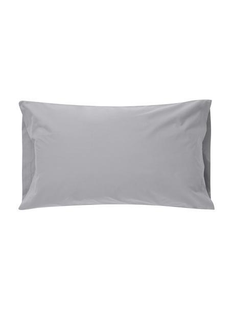 Funda de almohada Plain Dye, Algodón El algodón da una sensación agradable y suave en la piel, absorbe bien la humedad y es adecuado para personas alérgicas, Gris, An 50 x L 110 cm