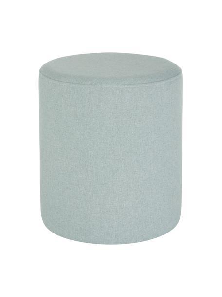Hocker Daisy in Blaugrün, Bezug: 100% Polyester Der hochwe, Rahmen: Sperrholz, Blau, Ø 38 x H 45 cm