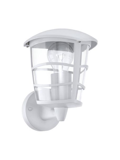 Außenwandleuchte Aloria, Lampenschirm: Kunststoff, Weiß, 17 x 23 cm