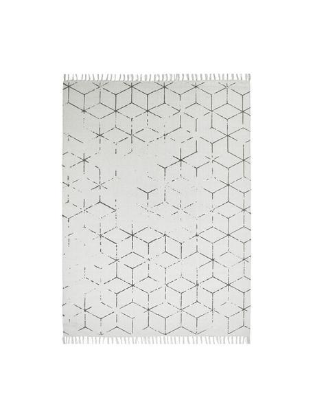 Ręcznie tkany dywan z bawełny Stockholm, Złamana biel, szary, S 160 x D 230 cm (Rozmiar M)