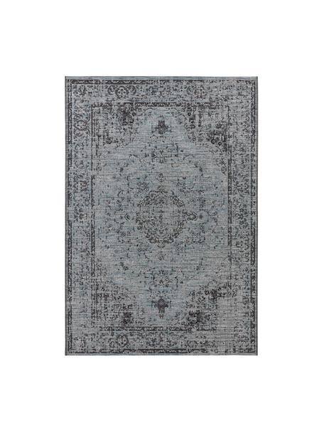 In- & Outdoor-Teppich Cenon im Vintage Style, 100% Polypropylen, Blautöne, B 80 x L 150 cm (Größe XS)