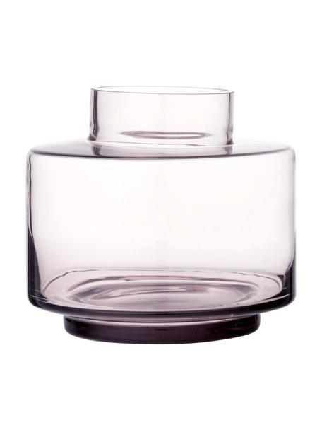 Mały wazon ze szkła dmuchanego Hedria, Szkło, Blady różowy, transparentny, Ø 18 x W 16 cm