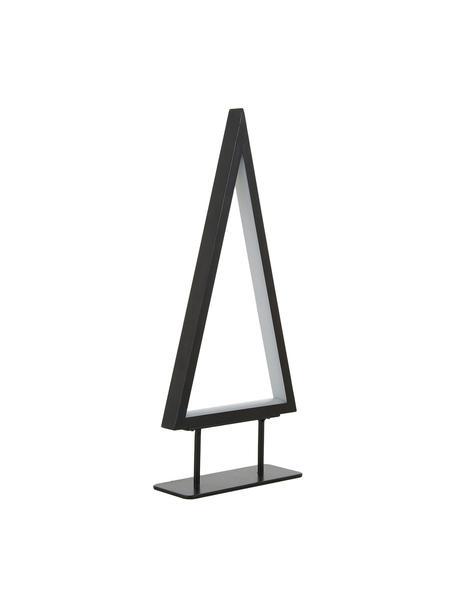 LED Leuchtobjekt Ropelight, Gestell: Metall, lackiert, Schwarz, 16 x 36 cm