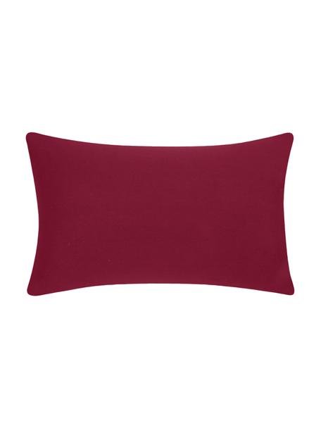 Baumwoll-Kissenhülle Mads in Rot, 100% Baumwolle, Rot, 30 x 50 cm