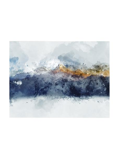 Canvasprint Abstract Mountain, Afbeelding: digitale print op linnen, Multicolour, 80 x 60 cm