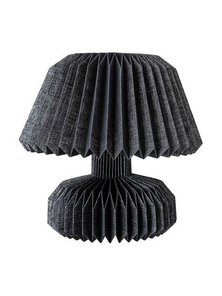 Lampa stołowa z papieru Janik, Czarny, Ø 37 x W 36 cm