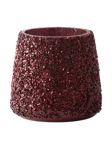 Portavelas Anolia, Vidrio, Rojo oscuro, Ø 10 x Al 11 cm