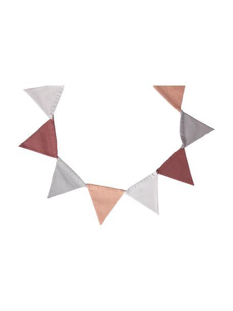 Guirnalda Vimply, Algodón, Rosa, gris, blanco, rojo oscuro, L 250 cm