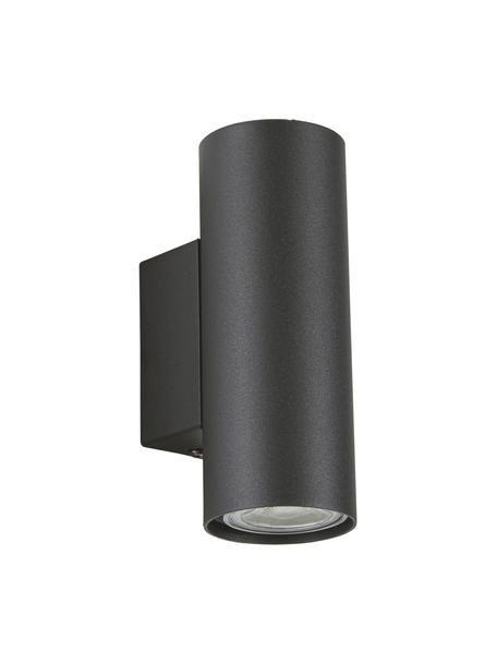 Applique a LED Paul, Paralume: metallo verniciato a polv, Nero, Larg. 6 x Alt. 9 cm