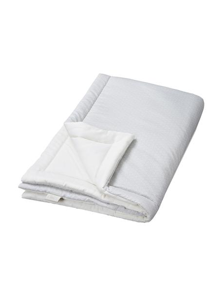 Decke Wave aus Bio-Baumwolle, Bezug: 100% Biobaumwolle, Öko-Te, Grau, Weiß, 90 x 120 cm