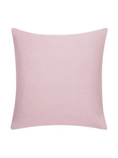 Katoenen kussenhoes Mads in roze, 100% katoen, Roze, 40 x 40 cm
