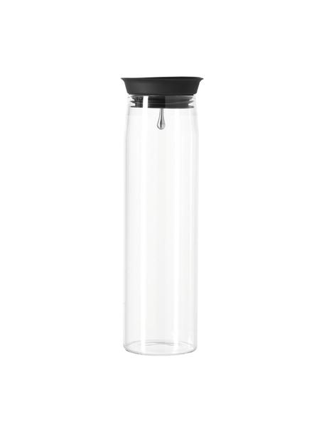 Große Glaskaraffe Brioso mit Deckel, 1.1 L, Glas, Silikon, Transparent, H 28 cm